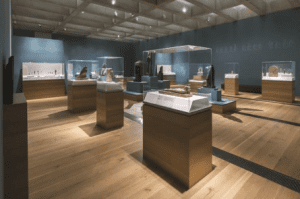 From gold coins and jewelry, to ancient religious artifacts, to huge sculptures, these displays tell the story of two lost cities of ancient Egypt which were found submerged under the Mediterranean Sea for over a thousand years.
