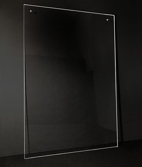 Hanging Acrylic Sneeze Guard - Plexiglass Dividers and Shields for Students Classrooms Businesses Healthcare - Photo