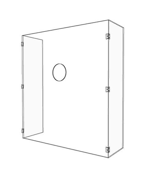 Temperature Check Acrylic Guard - Render