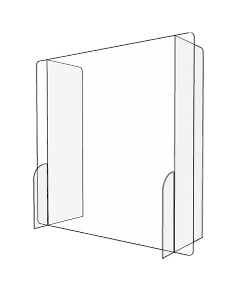 Paneled Acrylic Sneeze Guard - Render