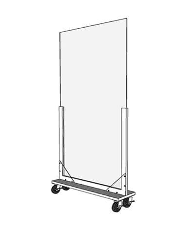 Portable Acrylic Divider (Render)