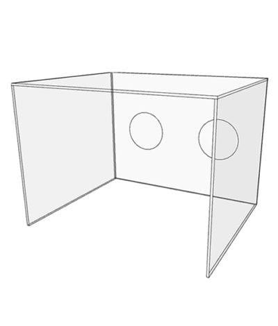 Acrylic Medical Intubation Box - Render