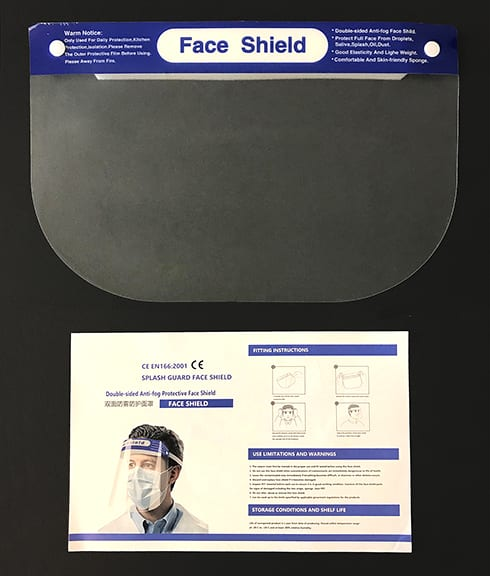 Protective Face Shields - Package