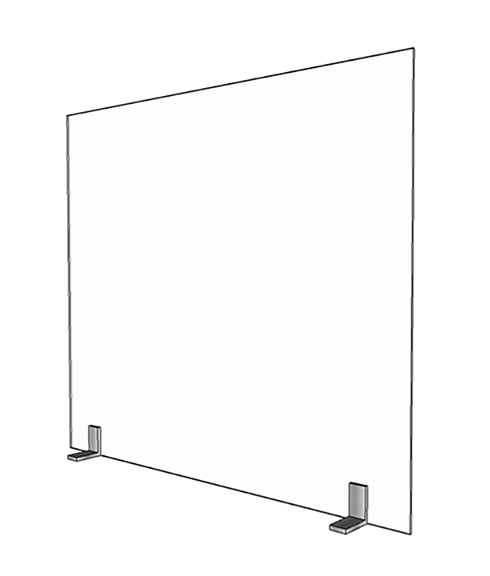 Small 28in Acrylic Divider - Render