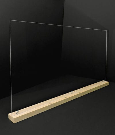 Large 46in Acrylic Divider with Base