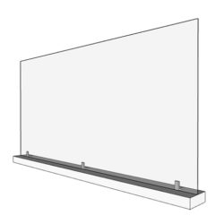 Large 46in Acrylic Divider with Base (Render)