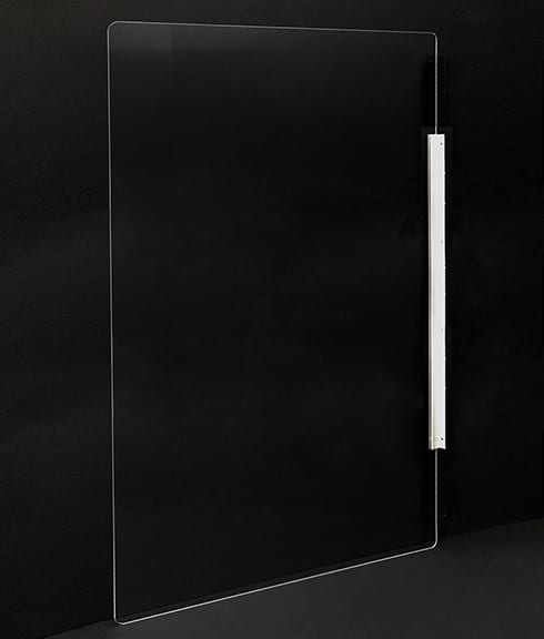 Magnetic Plexiglass Divider Shield for Offices, Schools, Manufacturing - Showcase Acrylics